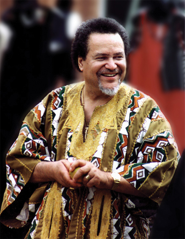 Asa Hilliard III in an African kaftan